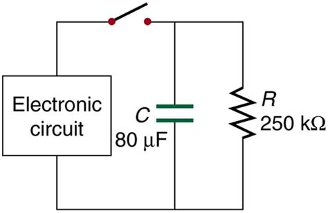 an uncharged capacitor and resistor are connected in series to a battery openstax cnx