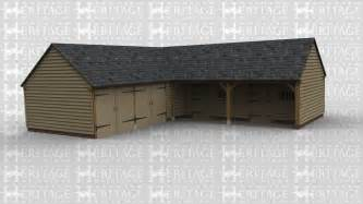 L Shaped Garage Designs Oak Framed Four Bays And Upwards Ws01244 English