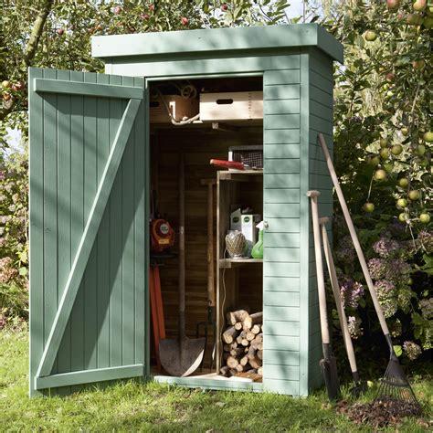 armoire de jardin bois helka naturelle l 131 x h 197 x p