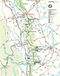blue ridge parkway northern virginia map