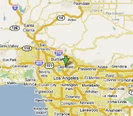 glendale california map