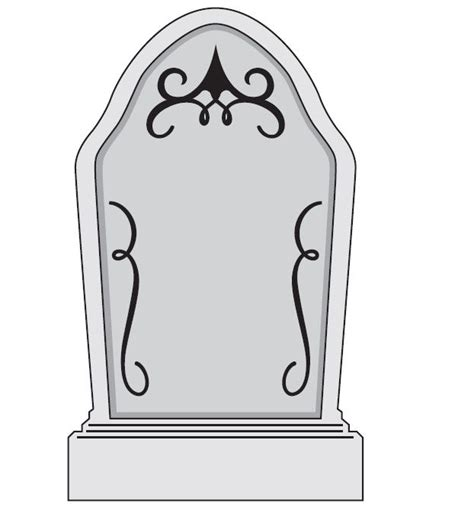Blank Tombstone Template Printable - Design Templates About:blank Free Halloween Clipart
