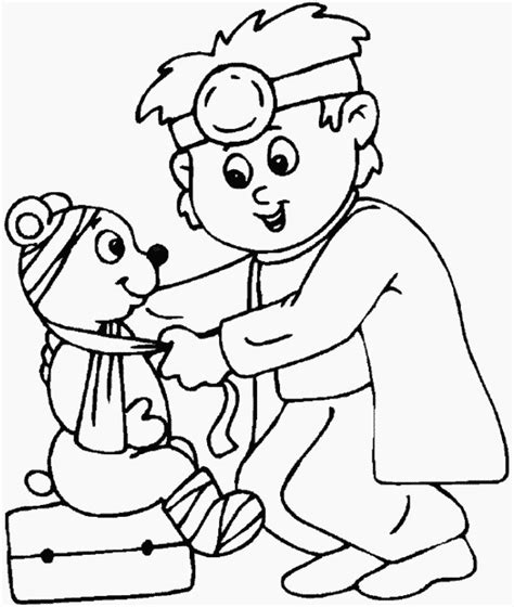 veterinarian coloring page az coloring pages