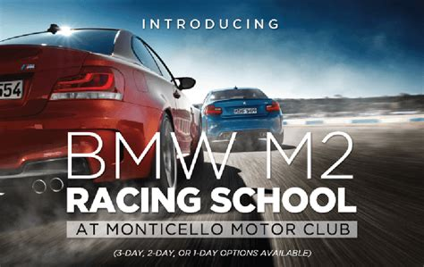 racing school bmw m2 racing school at monticello motor club