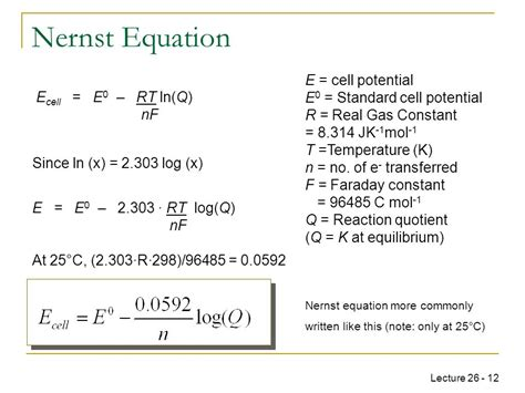 chem pharmacy week 9 nernst equation ppt download