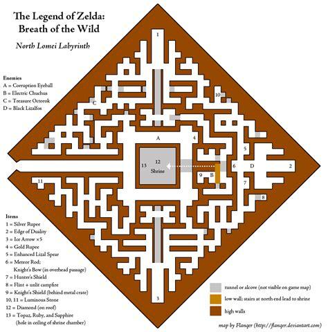 legend of zelda map maze north lomei labyrinth zelda dungeon wiki