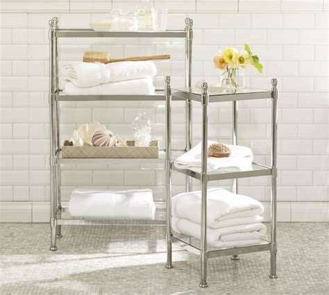 metal bathroom storage metal etagere pottery barn
