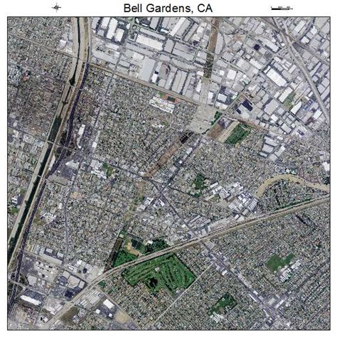 Bell Gardens aerial photography map of bell gardens ca california