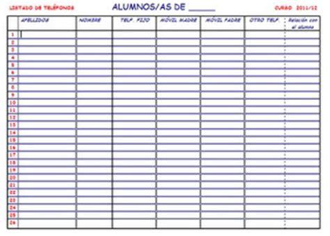registro de asistencia el blog de olimpia listado de tel 233 fonos de nuestros alumnos el blog de olimpia