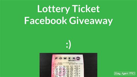 this agent got 200 facebook shares with only a lottery ticket easy agent pro - Powerball Giveaway Facebook