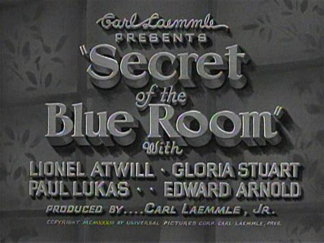 The Secret Of The Blue Room by Secret Of The Blue Room Gloria Stuart