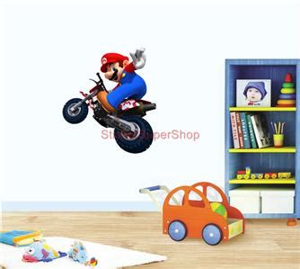 mario kart wall stickers choose your size mario kart on bike decal removable