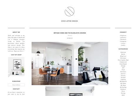 layout coco coco lapine design home decor blog wordpress custom