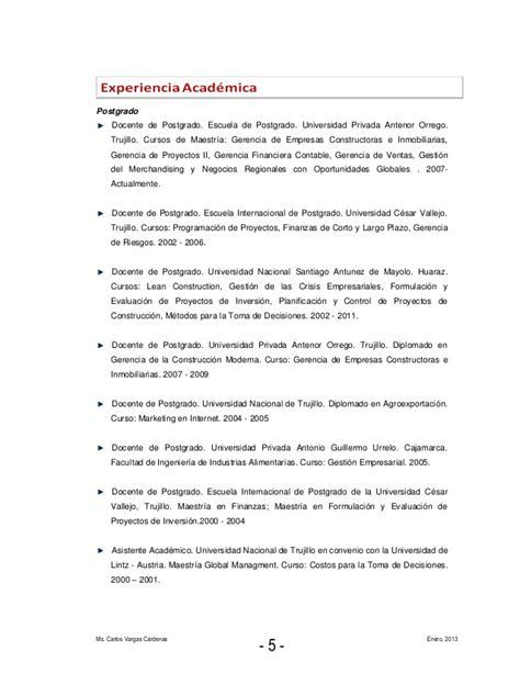 Modelo Curriculum Vitae Universidad Modelo De Curriculum Vitae Universidad Cesar Vallejo Modelo De Curriculum Vitae