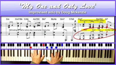 Tutorial Piano One And Only | my one and only love jazz piano tutorial by doug