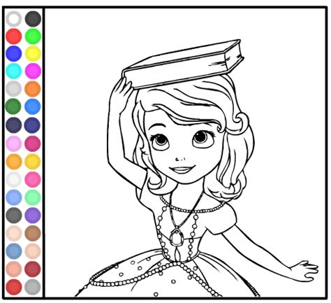 sofia coloring pages games painting games free kids games online kidonlinegame