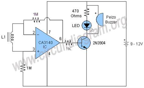 non contact voltage detector circuit diagram simple metal detector circuit diagram