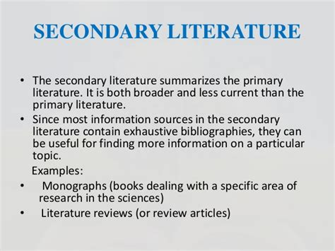 Literature Reviews Contain Two Types Of Data by Literature Survey In Biotechnology