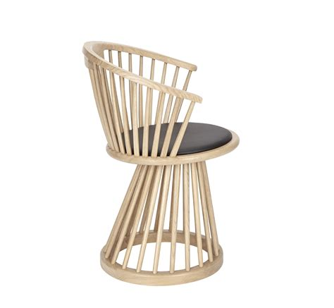 armchair fan fan armchair h 78 cm wood leather natural wood