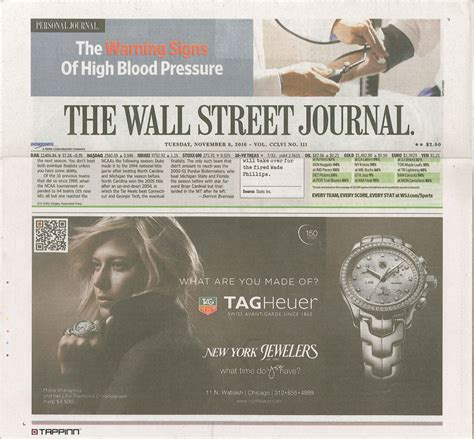 wall street journal section c qr codes anywhere mobile qr codes hit the wall street journal