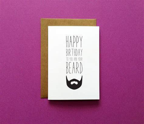 Birthday Card Boyfriend Beard Birthday Card Funny Beard Birthday Greeting Card