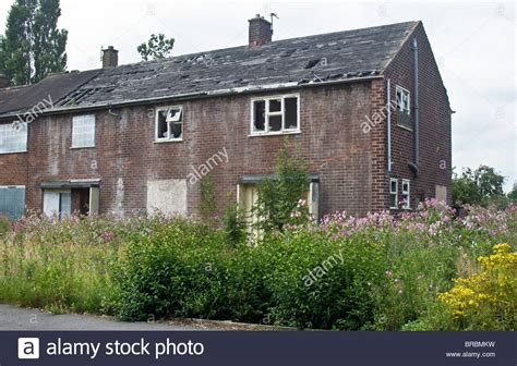 buy house in langley derelict former council houses on langley estate originally stock photo royalty free