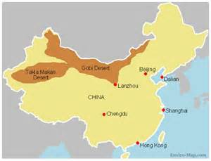 china s expanding gobi desert maps and