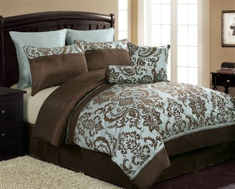 comforter sets blue and brown chocolate brown and blue bedding sets