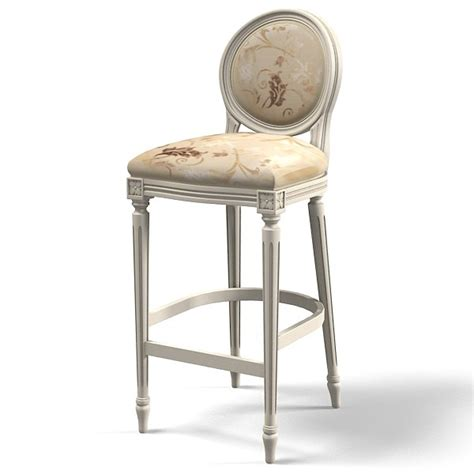 Classic Bar Stool classic bar chair 3d model