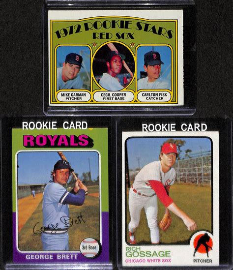 johnny bench rookie card lot detail lot of 5 baseball stars rookie cards w johnny bench