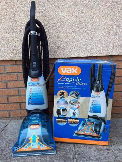 Vax V 026rd Rapide Deluxe Upright Carpet And Upholstery Washer by Sold Vax Rapide Deluxe Carpet Washer V 026 Used