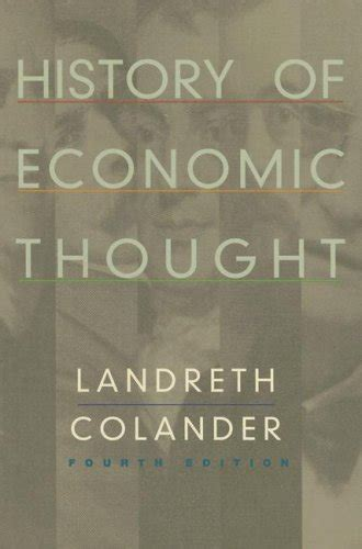 History Of Economic Thought history of economic thought by harry landreth david