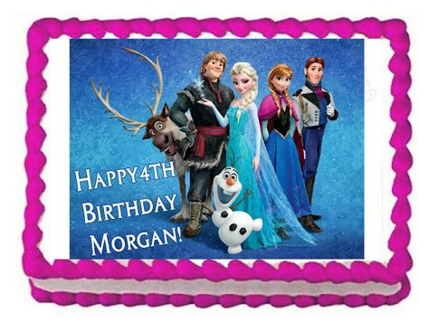 frozen edible party cake topper decoration frosting sheet image ebay