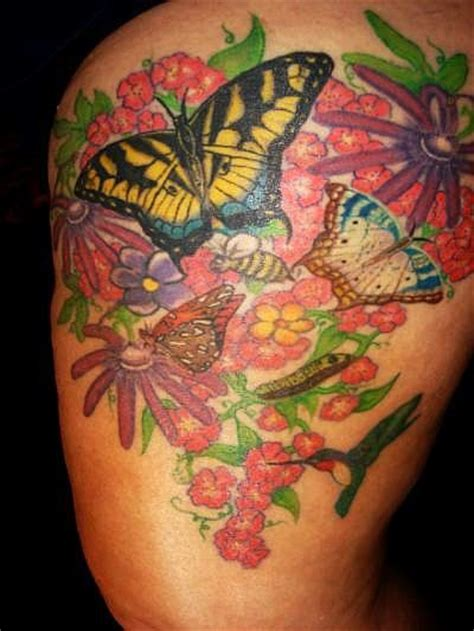 garden tattoos garden of butterflies picture