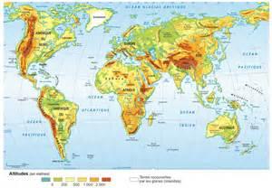 les grandes zones de relief dans le monde