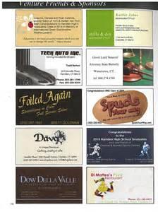 business card ads hamden schools yearbook