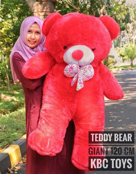 Boneka Tayo Jumbo Free Ongkir jual boneka teddy besar warna merah free ongkir
