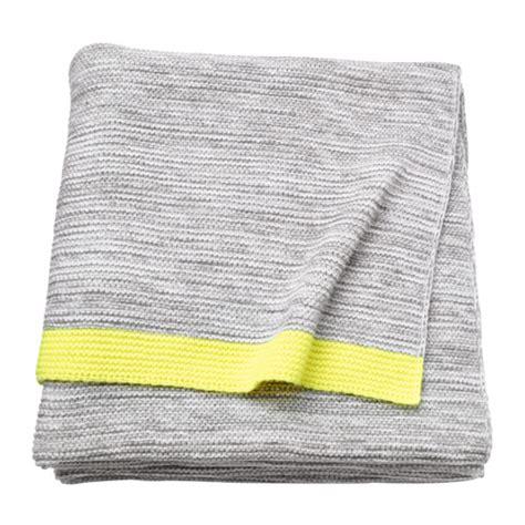 Decke Ikea by Lisamari Throw Light Grey Yellow 130x170 Cm Ikea