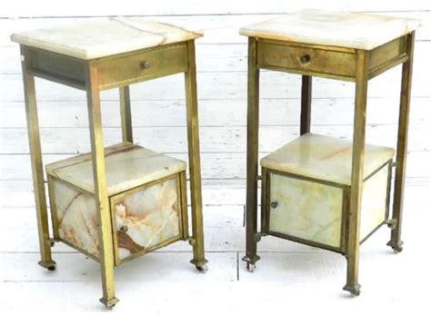 unusual bedside tables unusual pair of french brass marble bedside tables