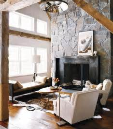 Rustic Contemporary Decor 40 Stone Fireplace Designs From Classic To Contemporary Spaces