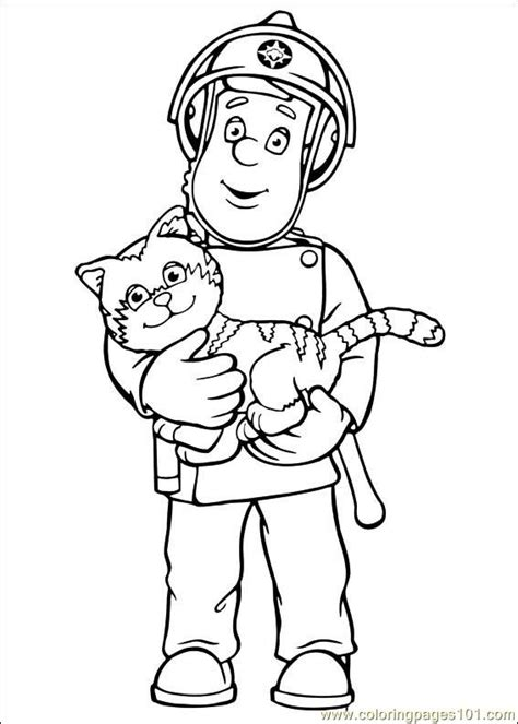 Fireman Sam Coloring Pages Getcoloringpages Com Fireman Sam Pictures To Print