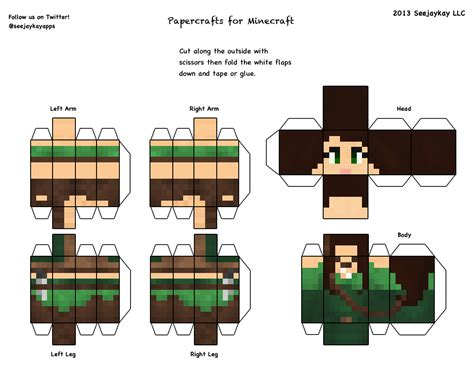 How To Make A Minecraft Person Out Of Paper - how to make a 3d paper model of your mc character free