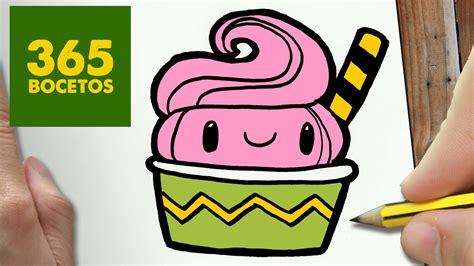 imagenes de helados kawaii como dibujar helado kawaii paso a paso dibujos kawaii