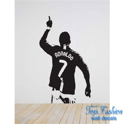 Football Wall Sticker cristiano ronaldo 7 football wall decal sticker art design