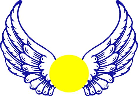 blue eagle wing  softball clip art  clkercom