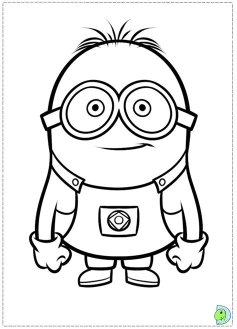 coloring page of a minion free coloring pages of minions