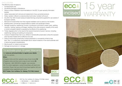 Incised Timber Ecc Ie Fence Warranty Template
