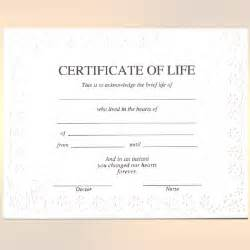Flowers For Grief - blank certificate of life griefwatch