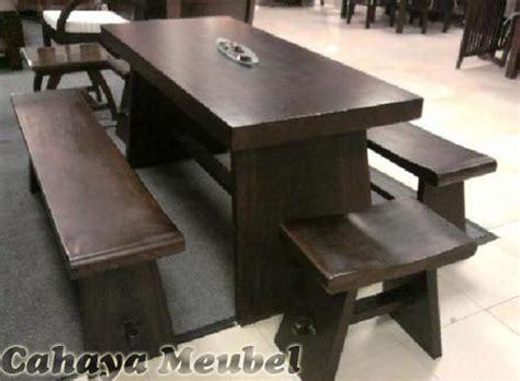 Meja Dan Kursi Bakso set kursi makan blok model bakso kayu trembesi set meja