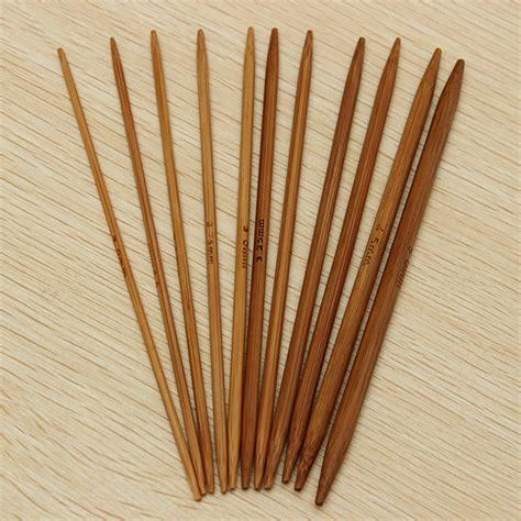 bamboo knitting needles 55pcs 11 sizes carbonized bamboo knitting needles crochet